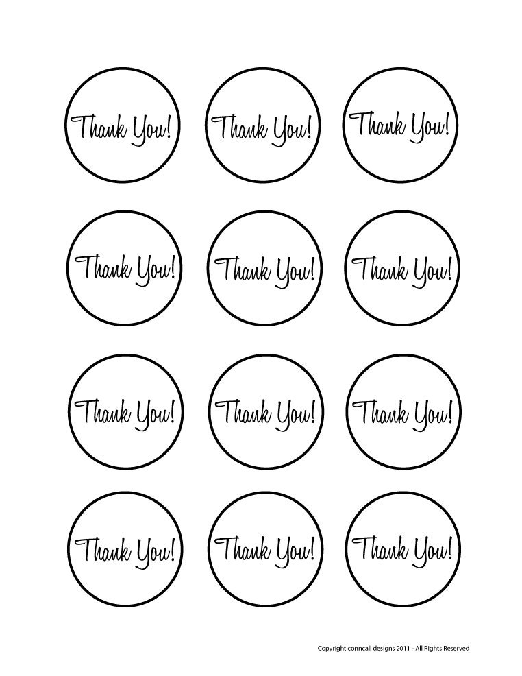 Ambitious image for thank you printable tag