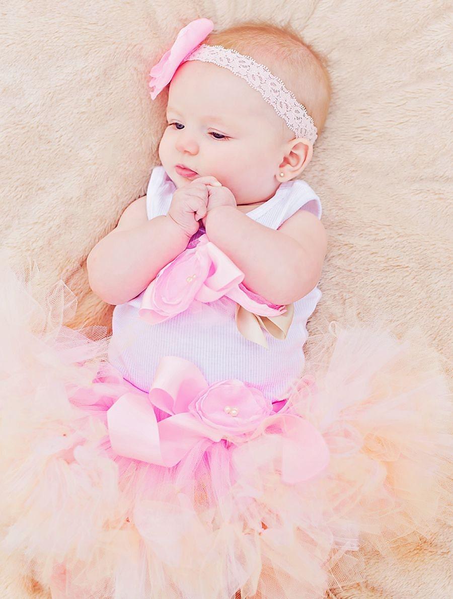 Blush Champagne Pink Baby Tutu Skirt