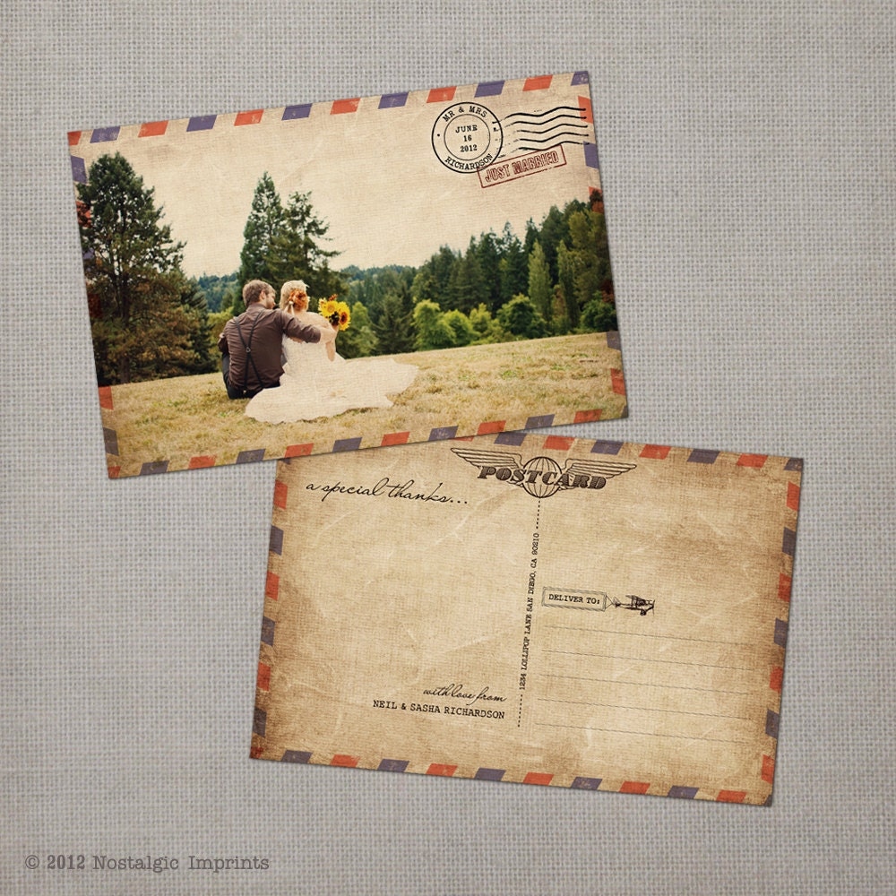 how to make a photo look like a vintage postcard