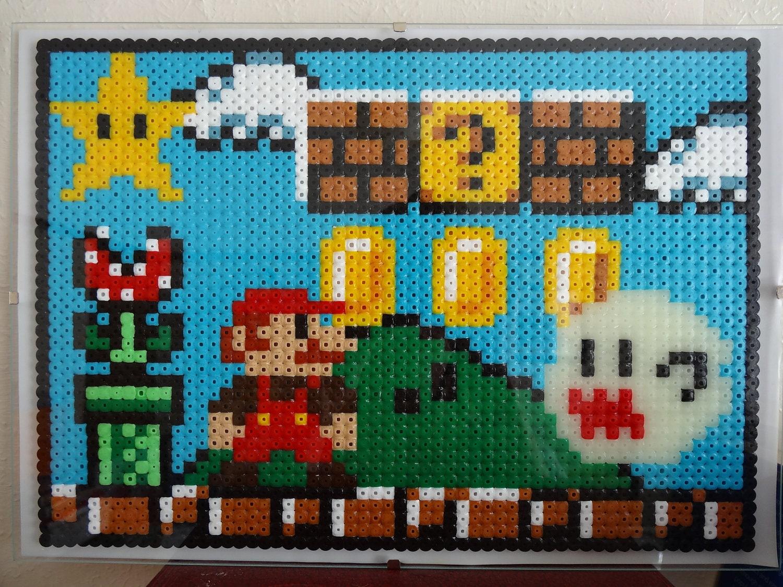 Super stylish Mario platform glow in the dark pixel art