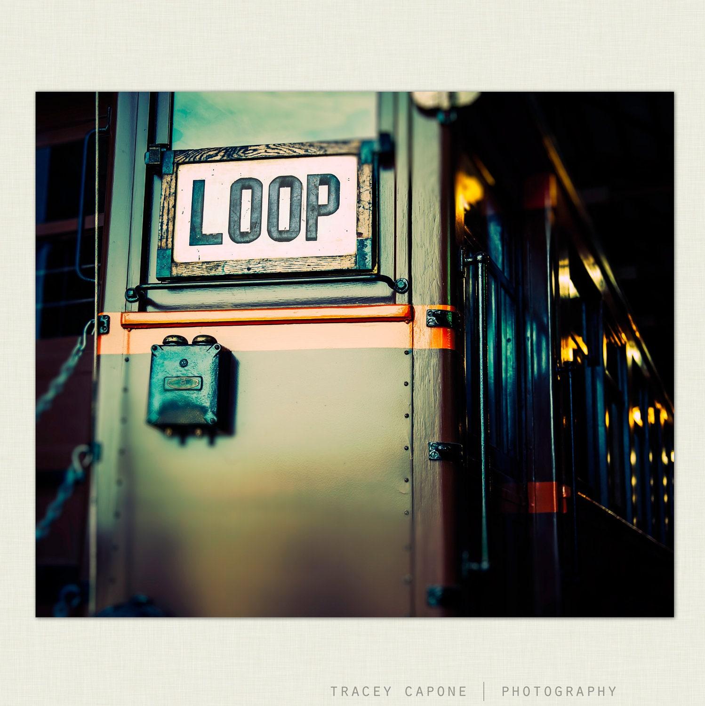 Chicago Loop Train Urban Wall Art Photograph By