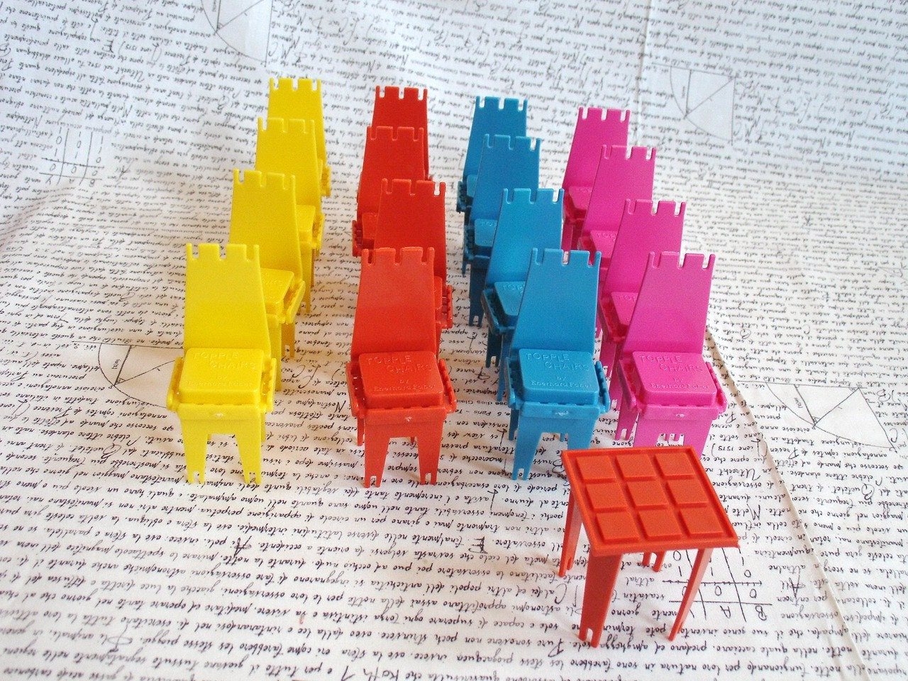 Items Similar To Vintage Plastic Stackable Chair Game