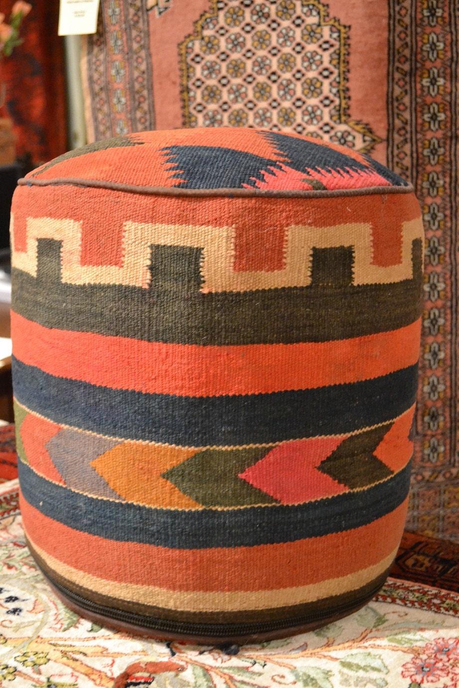 Rug Sitting Stool Rug Ottoman Kilim Sitting By