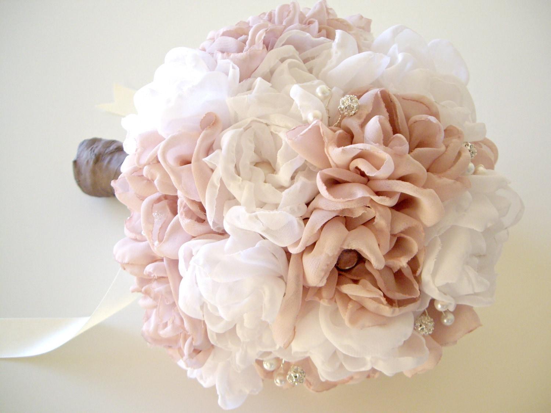 バラ 折り紙 バラ 折り紙 : Vintage Fabric Flower Bouquet for Weddings