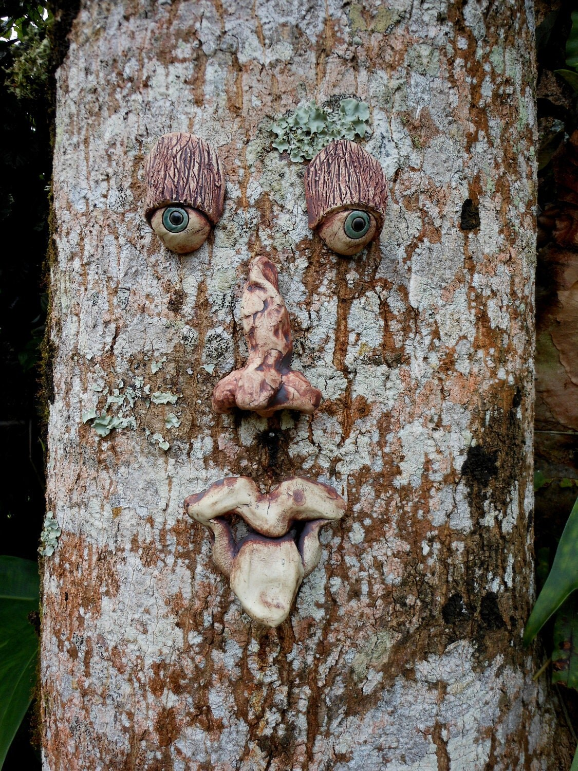 Whimsical Tree Face Sculpture By Uturn On Etsy