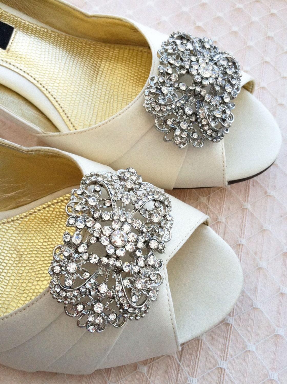 Rhinestone Shoe Clips Set Of 2 Just A Little Wedding