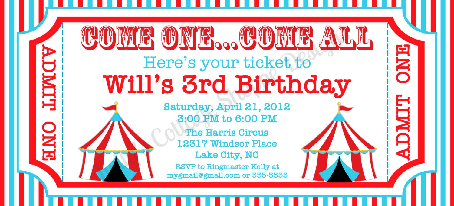 Admit One Invitation Template admit one ticket invitation template ...