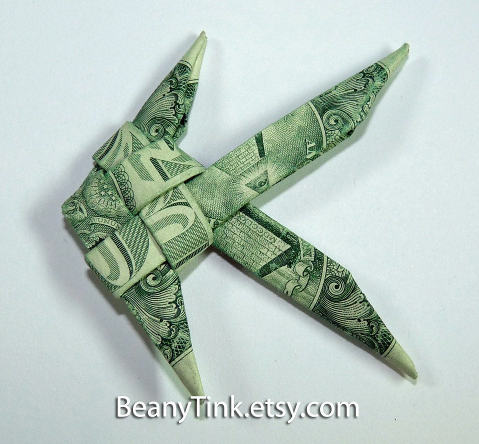 Dollar origami fish by beanytink on etsy for Dollar bill origami fish