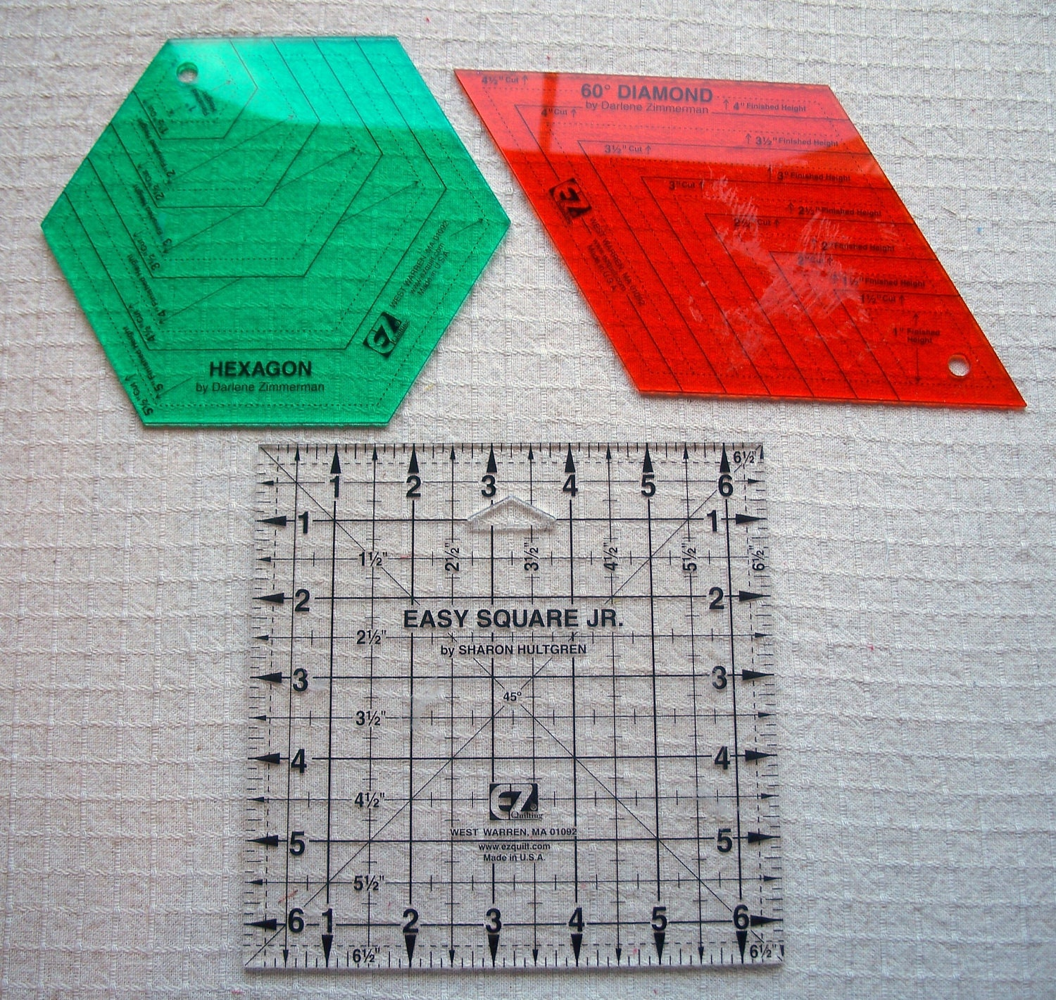 Destash Rulers 3 EZ Quilting Rulers By Fabricalacarte On Etsy