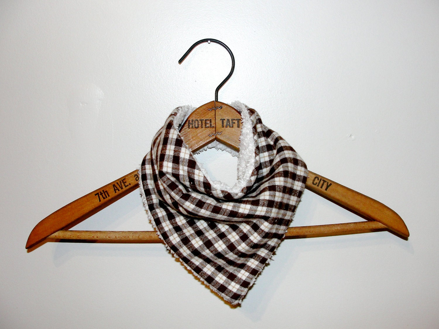 Bandana Bib - Brown Plaid