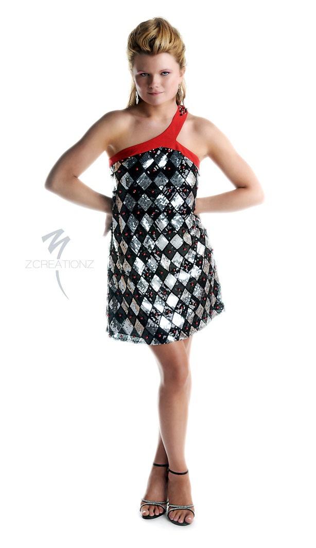 SALE...Short sequin cocktail dress