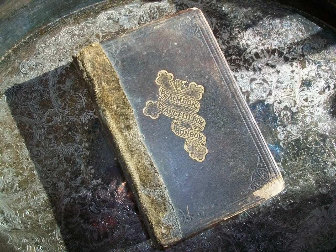 Antique Book 1879 Psalm Book Norwegian Psalmbok Evangelit Bok Bonbok - RedRiverAntiques