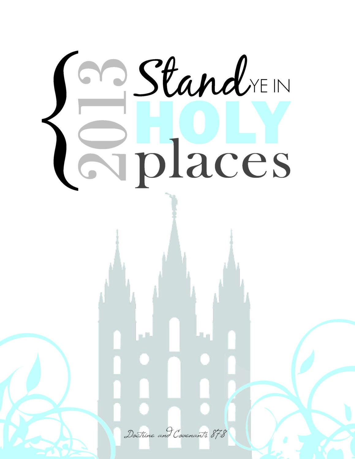 ... Ye In Holy Places LDS 2013 Youth Theme PDF for frame or binder cover