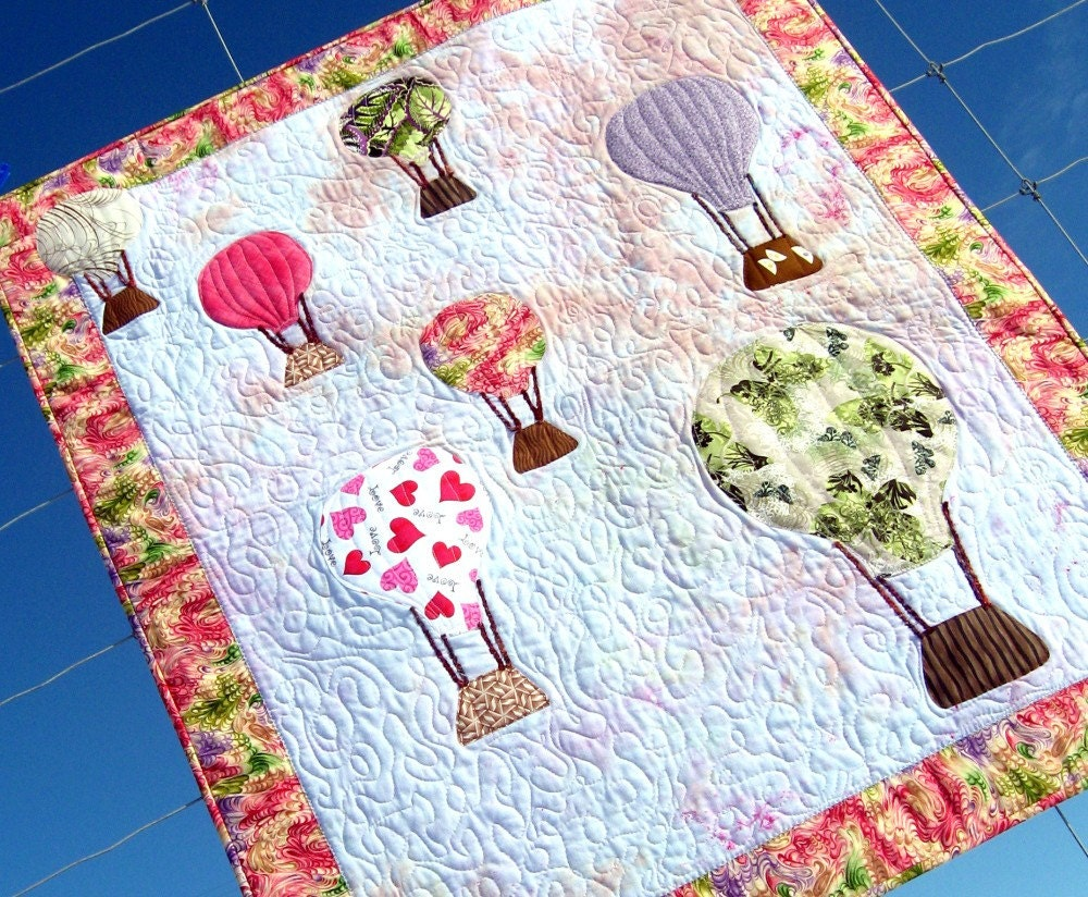Love Is In The Air Hot Air Balloon Quilt By Persimondreams