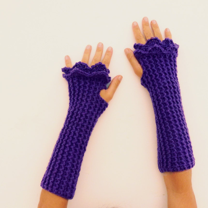 Crochet Fingerless Gloves Pattern Beginner : Warm hands Crochet Pattern Fingerless Mittens Grace PDF by ...