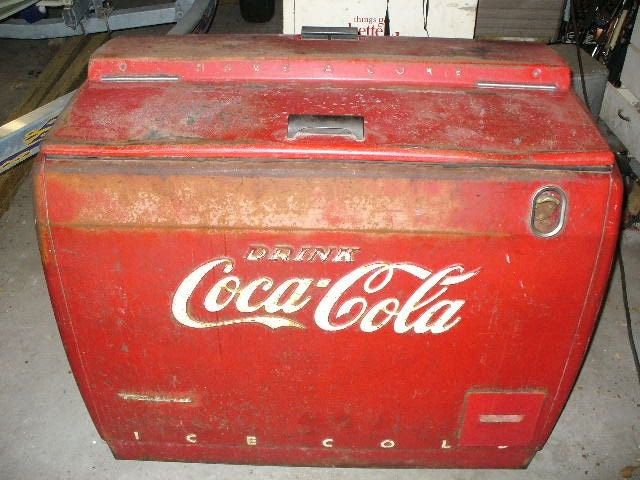 coke cooler antique