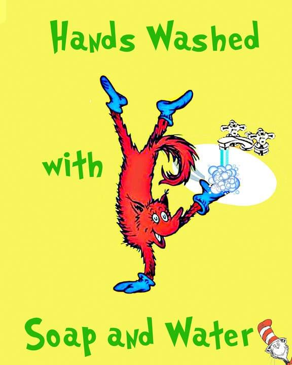 3 Dr Seuss Prints Signs For Kids Bathroom By LolasLagniappe