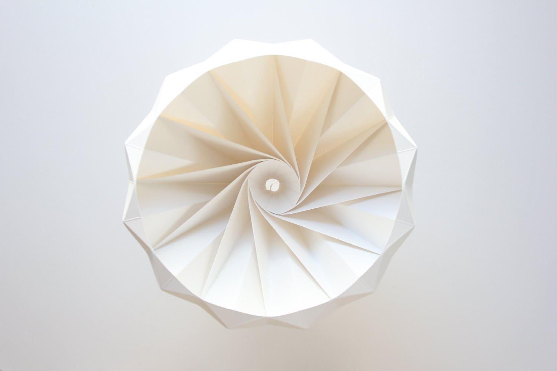 Chestnut paper origami lampshade white - nellianna