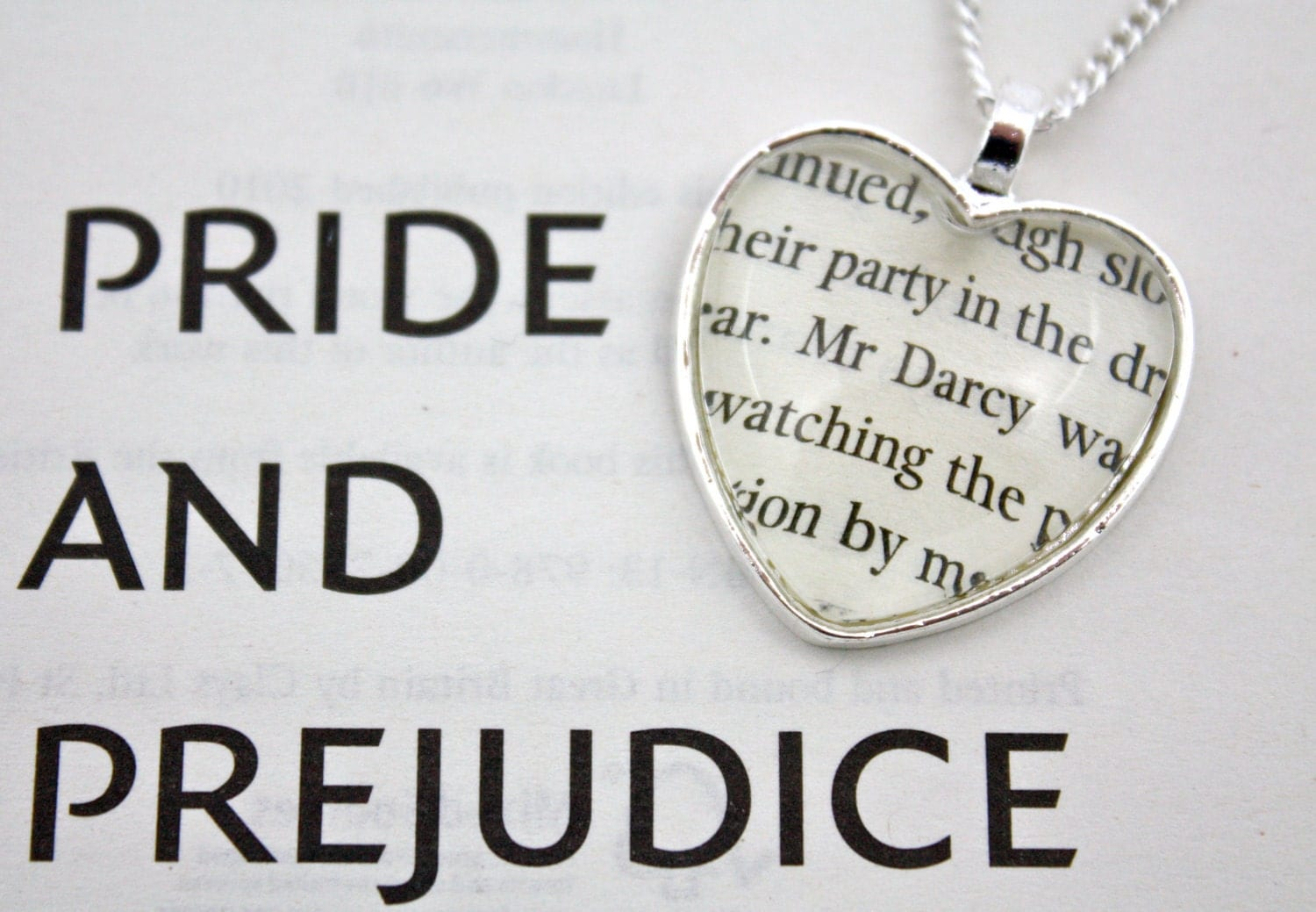 Pride and Prejudice 'Mr Darcy' Heart Necklace
