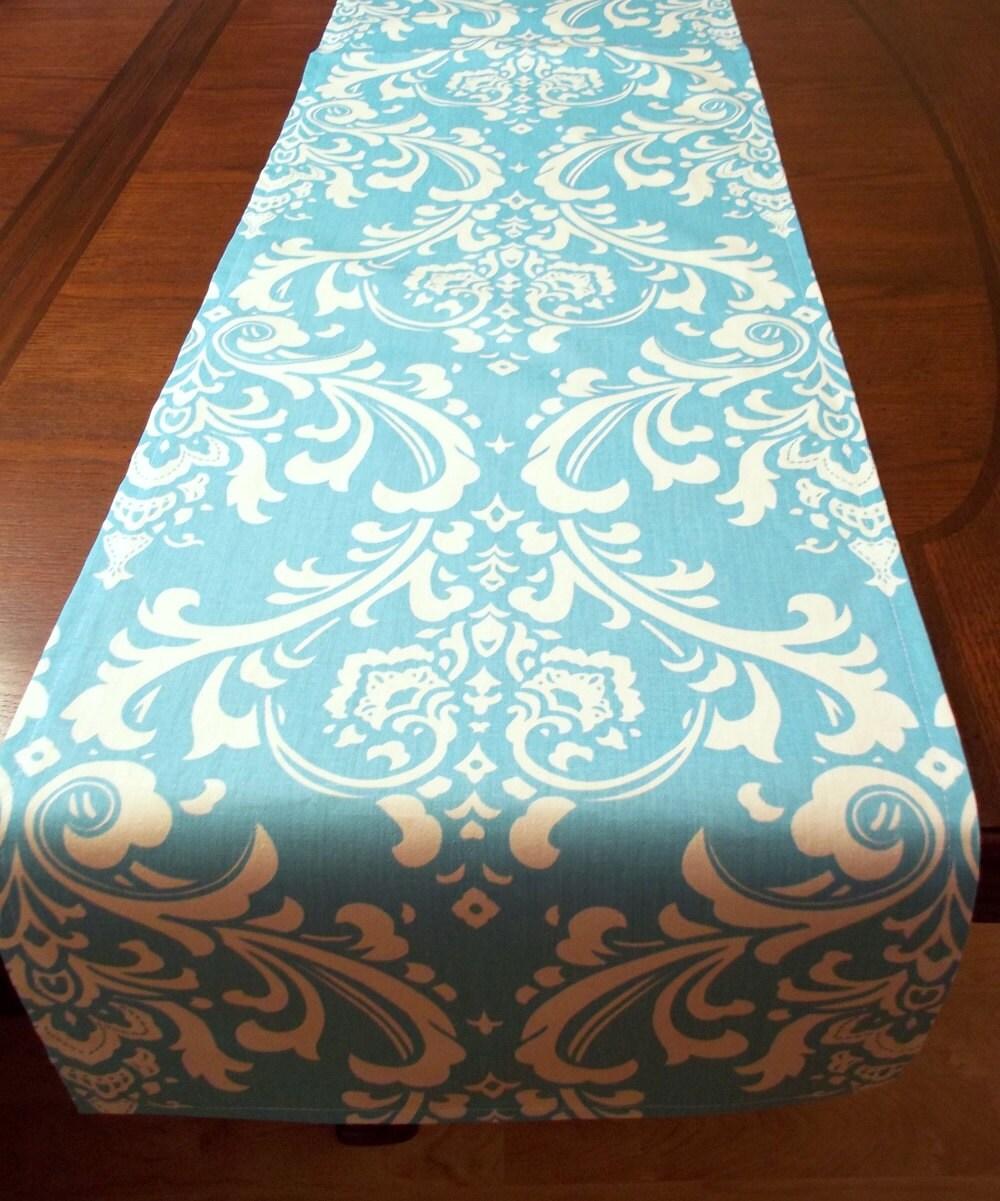 runner Wedding Runner  Blue  aqua Decor Aqua Table   Table Damask table