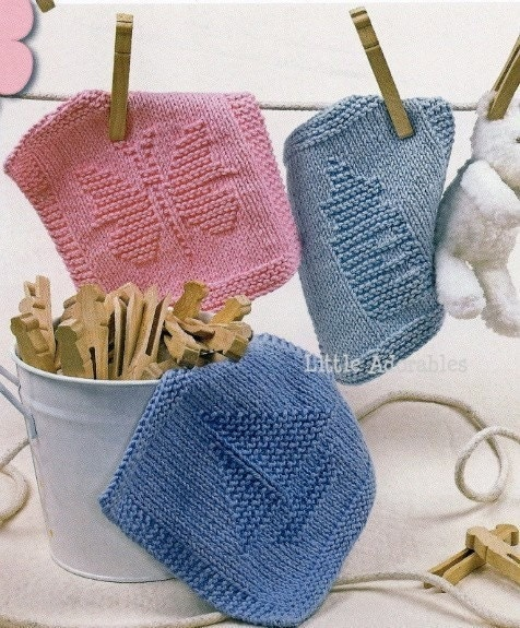 Knit Pattern Baby Washcloths : Baby Washcloth Knit Pattern Book Images - Frompo