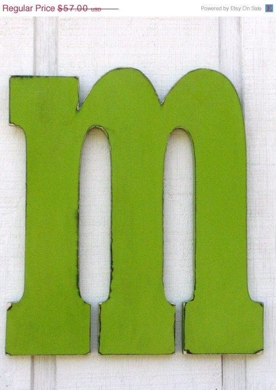 items similar to rustic large wooden letters quotmquot 18 inch With 3 inch wooden letters for sale