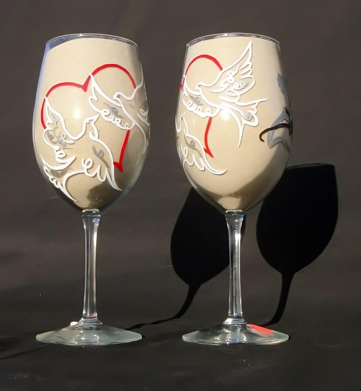 items similar to 2 25th wedding anniversary wine glasses With 25th wedding anniversary glasses