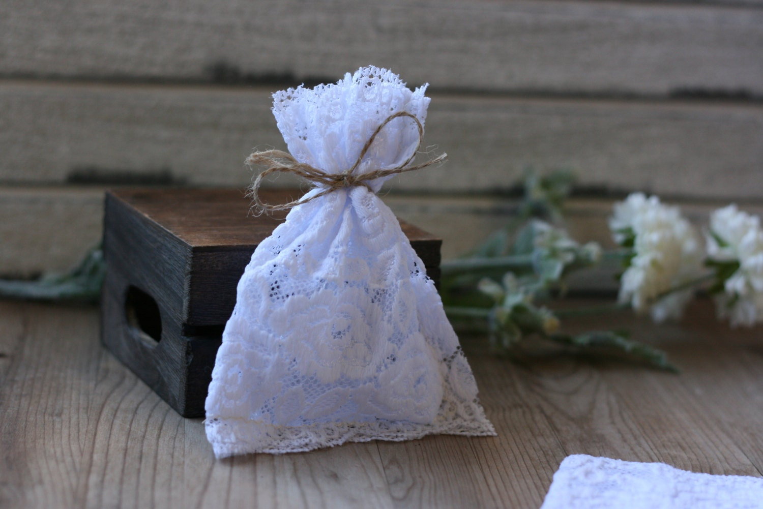 Wedding Favor Bags Lace : to LaCe Wedding favor bags, 50 WHITE RoSe lace, rustic wedding favor ...