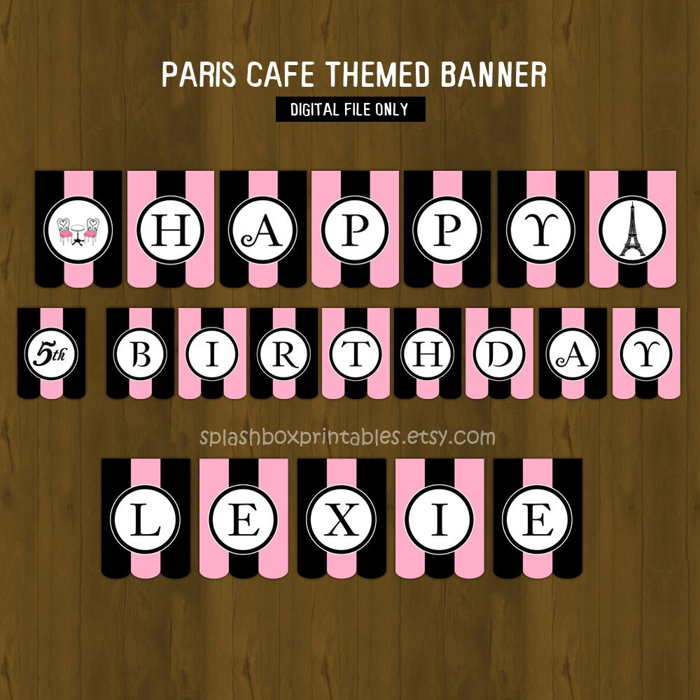 Paris Printable Birthday Or Baby Shower By SplashboxPrintables