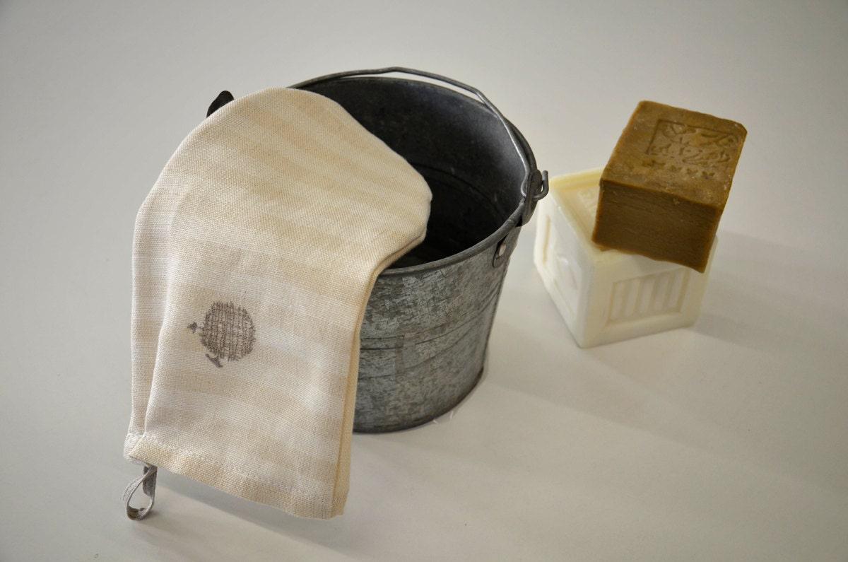 Scrub glove hemp fiber - AMBLEKODI