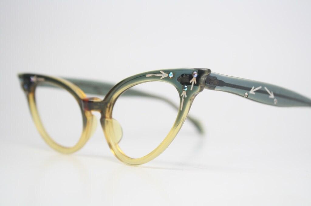 Small Vintage glasses Frames vintage eyewear by PinceNezShop