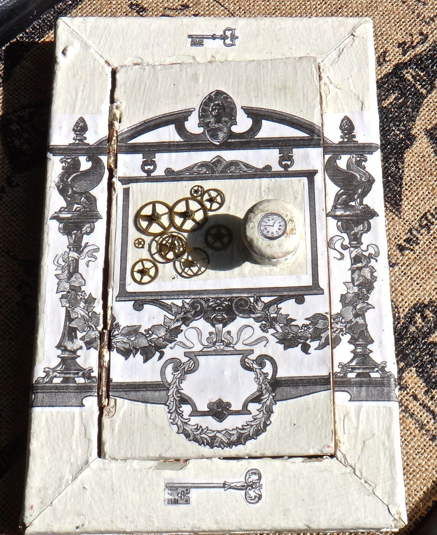 Wall Decor Mailbox : Assemblage french advertising mailbox door by casakarmadecor