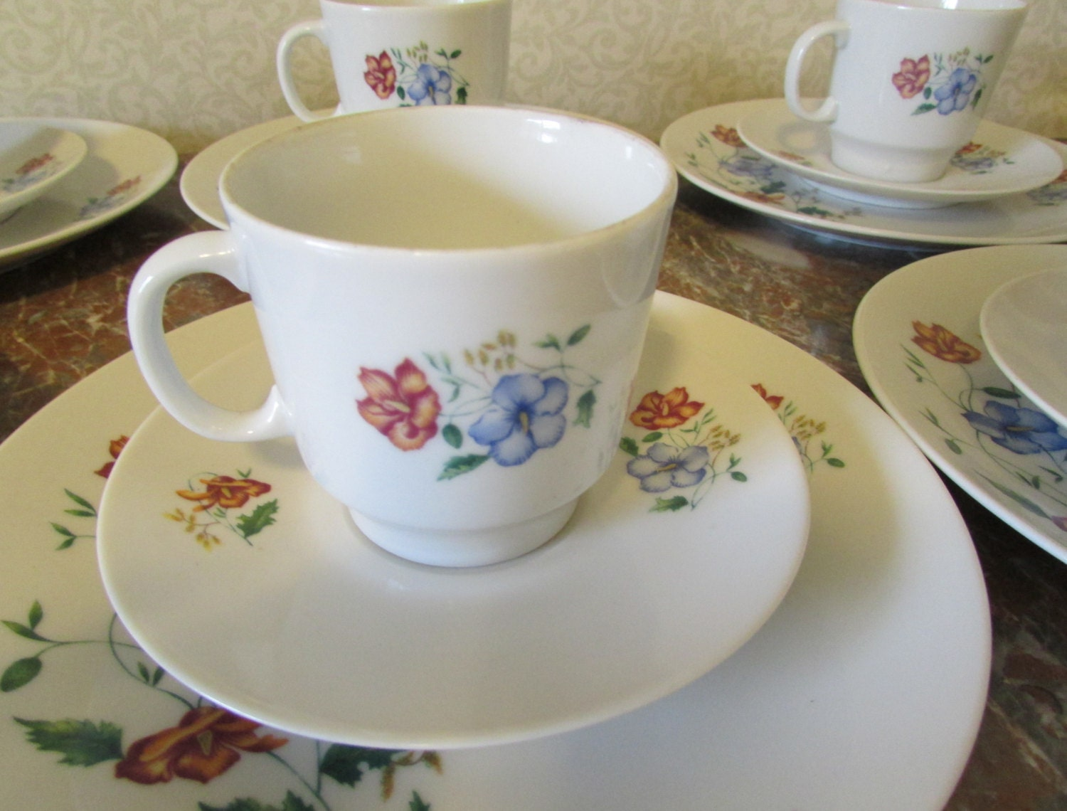 Bohemian China Dishes Midcentury Set Of 6 Instant By