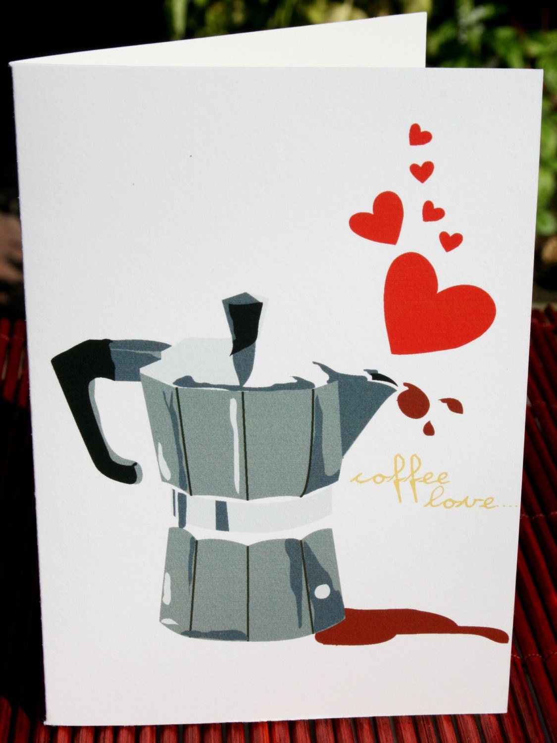 Coffee Love Note Card (set of 4)