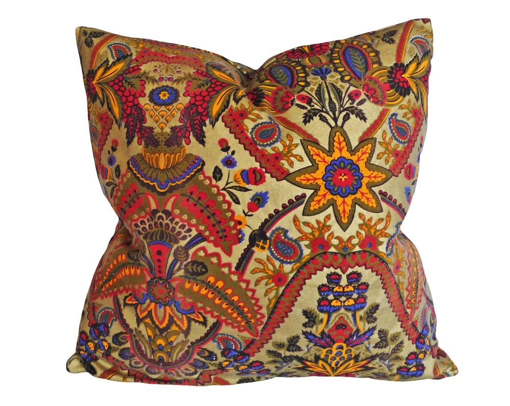 Colorful Bohemian Throw Pillows : Large Bohemian Pillows Colorful Eclectic Toss by PillowThrowDecor