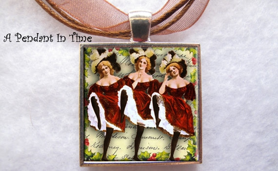 Nine Ladies Dancing Pendant - APendantInTime