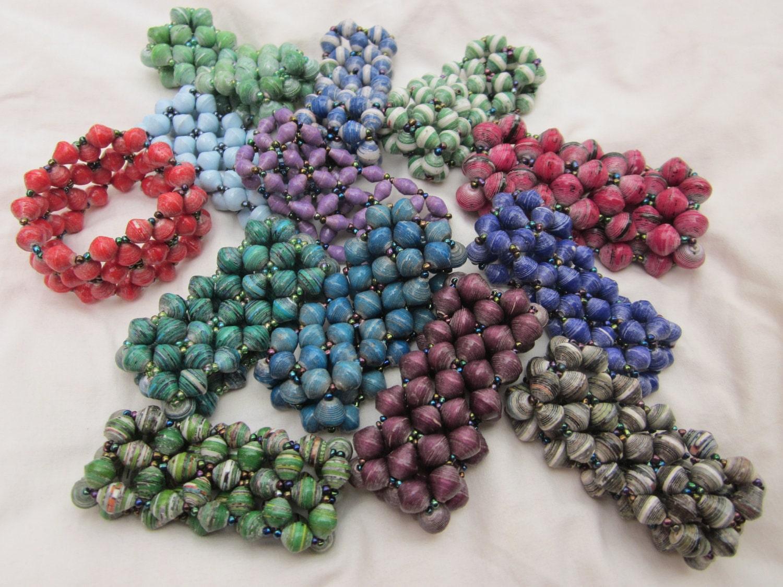 Paper Bead Bracelets-Star pattern