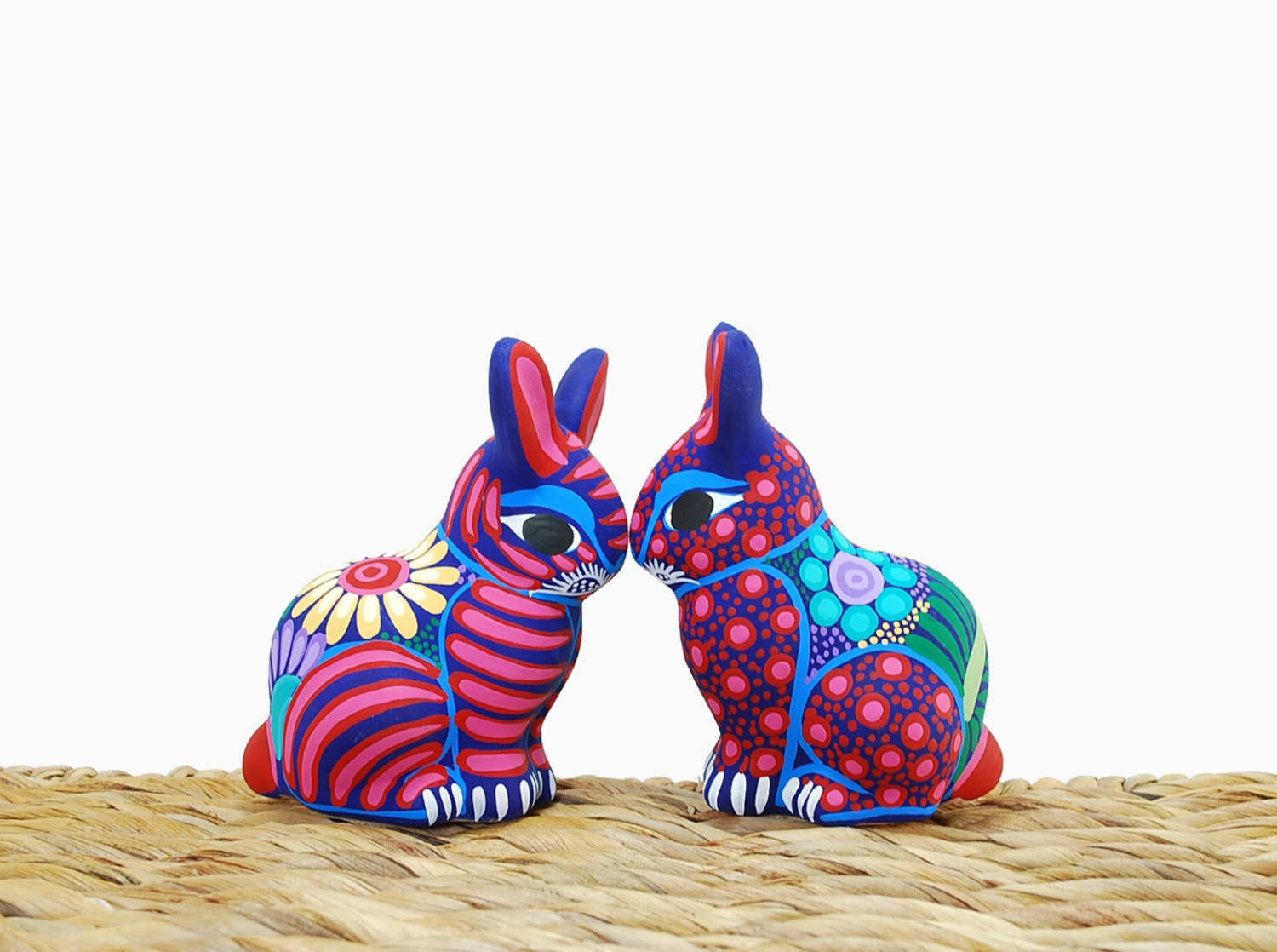 Animal ceramic sculpture - Easter rabbit - Easter decoration pottery rabbit  - pottery animal - Red ceramics - HolaPapelMache