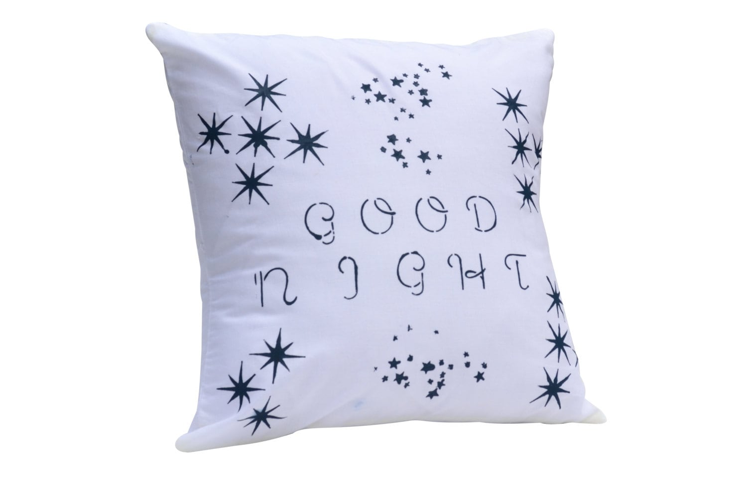 Good Night Hand painted Accent Pillow 16x16 - vlady1