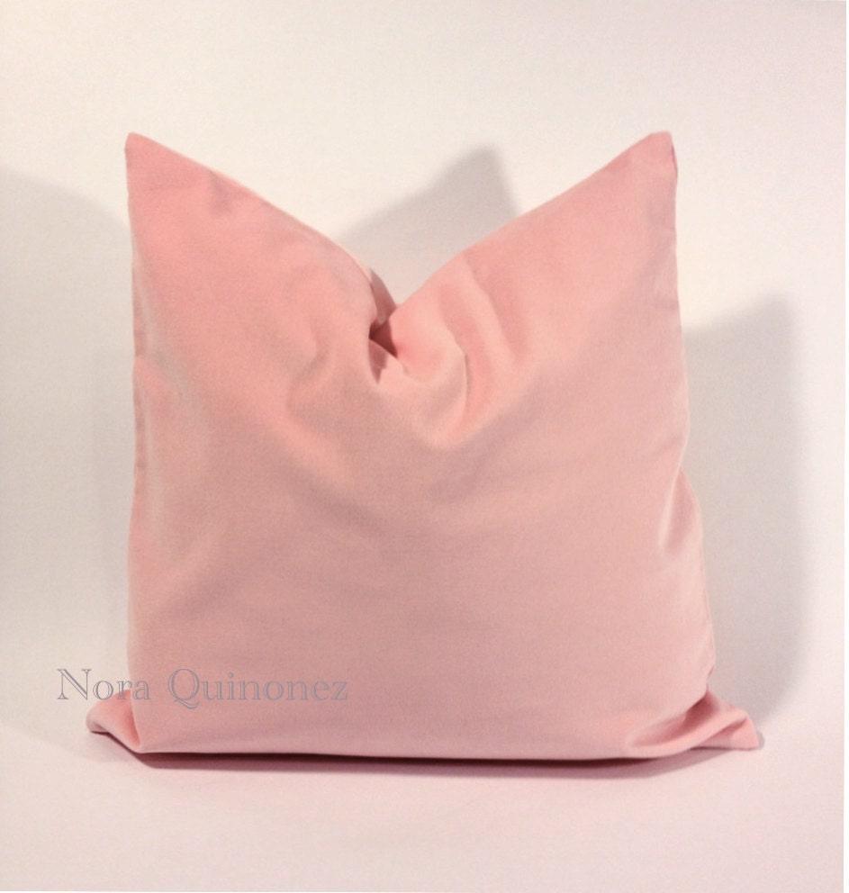 20x20 pale pink cotton velvet pillow cover square by noraquinonez. Black Bedroom Furniture Sets. Home Design Ideas