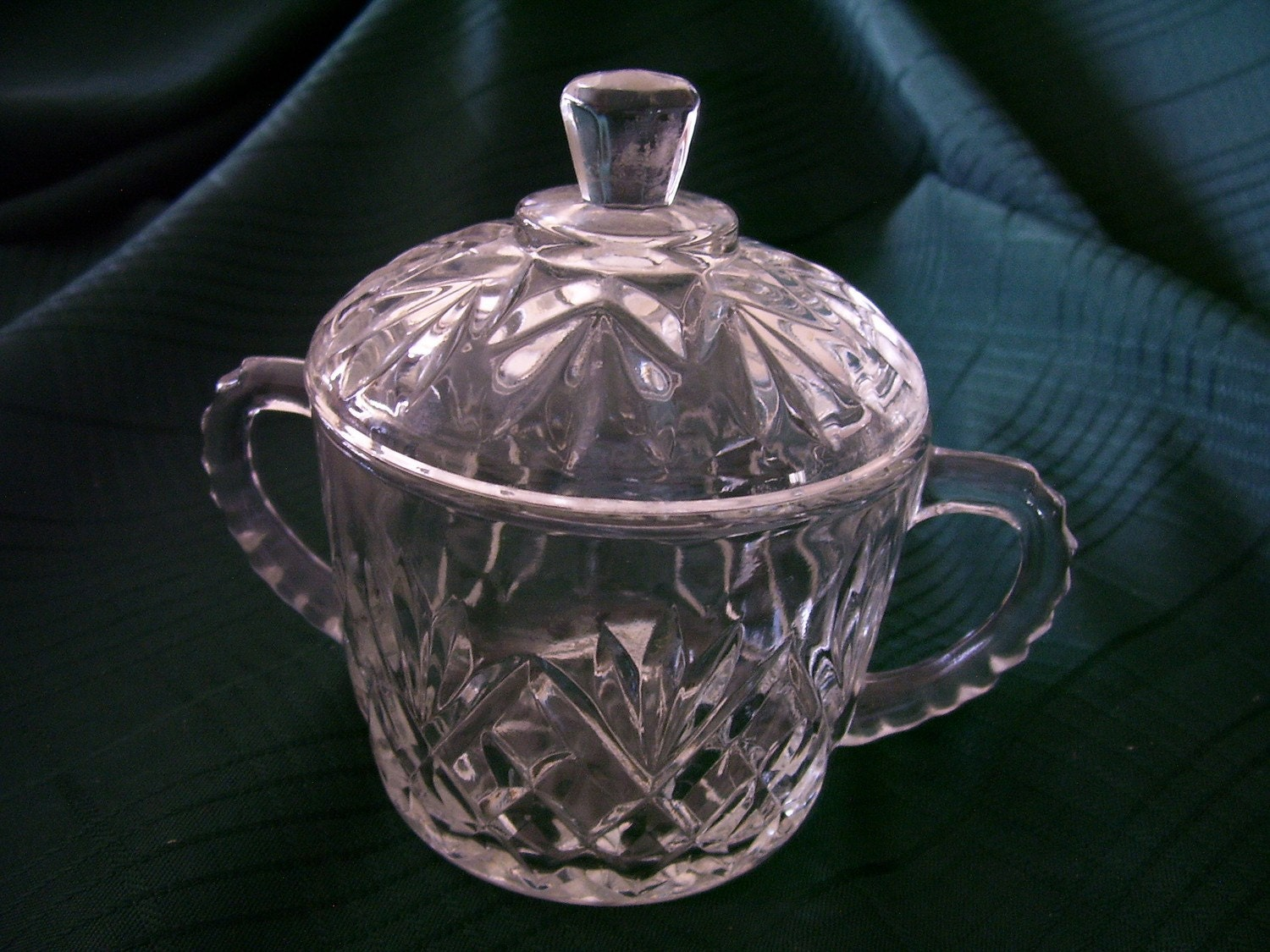 Crystal Anchor Hocking Sugar Bowl With Lid In By