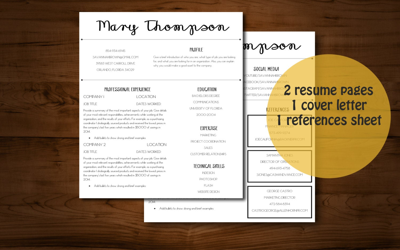 Resume cover sheet