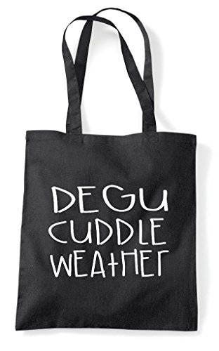 Degu Cuddle Weather Pet Cute Funny Animal Themed Tote Bag Shopper