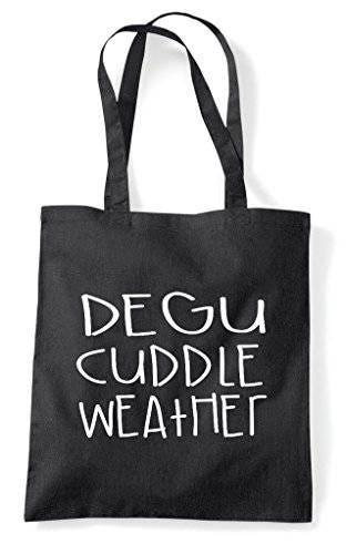 Degu Cuddle Weather Pet Cute Funny Animal Themed Tote Bag Shopper