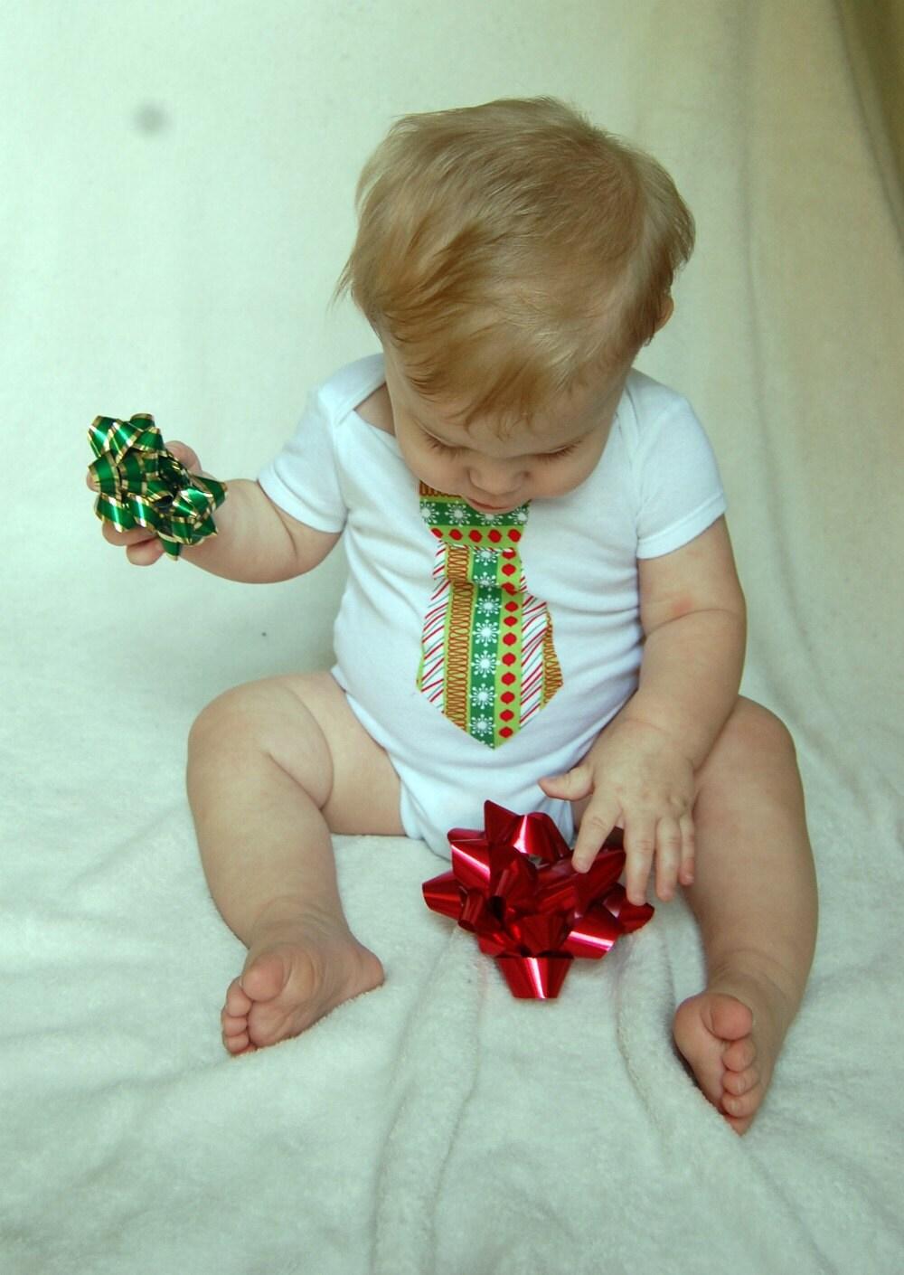 Christmas Tie Onesie no.1