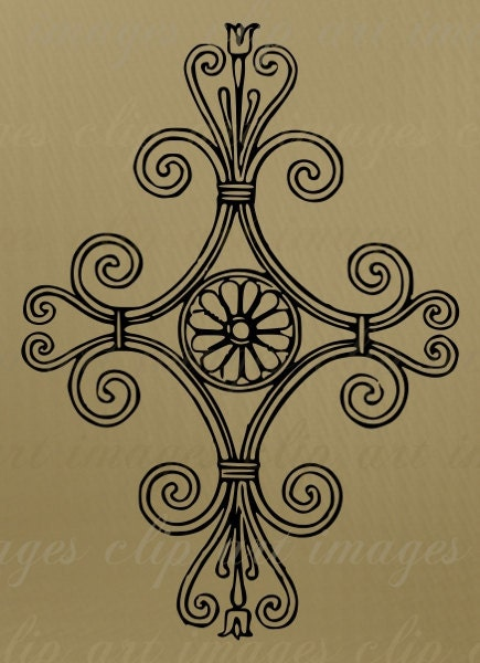 Divine Scroll Clip Art Royalty Free Commercial Use digital stamp for card
