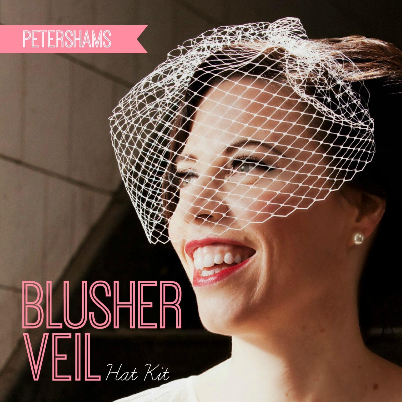 DIY Hat Kit Make Your Own Bridal Blusher Veil By Petershams