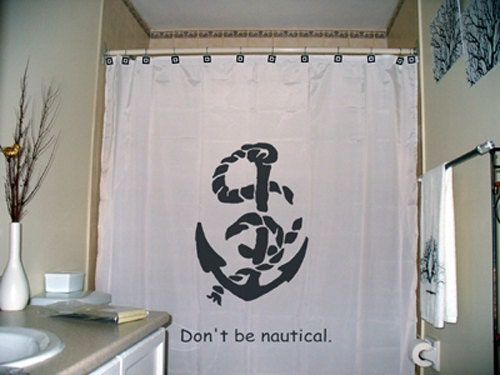 ship boat anchor shower curtain bathroom decor kids bath sailor man ...