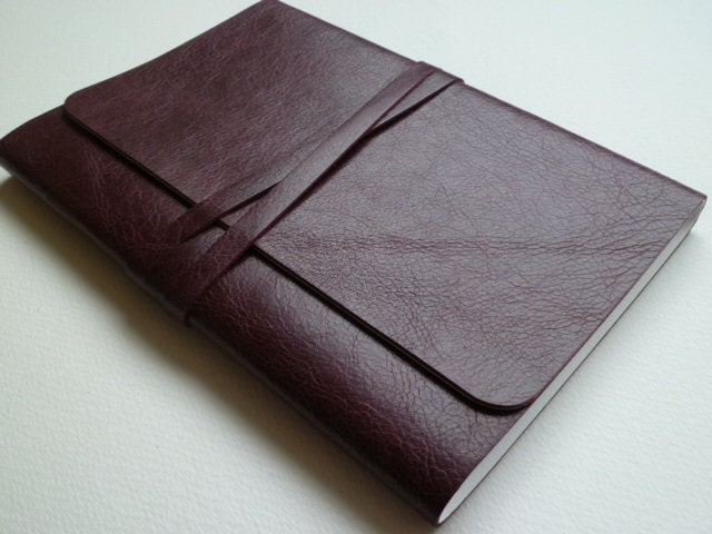 Larger Leather Bound Notebook/Journal Oxblood/Burgundy With an Antique Finish - LeatherNotebooks