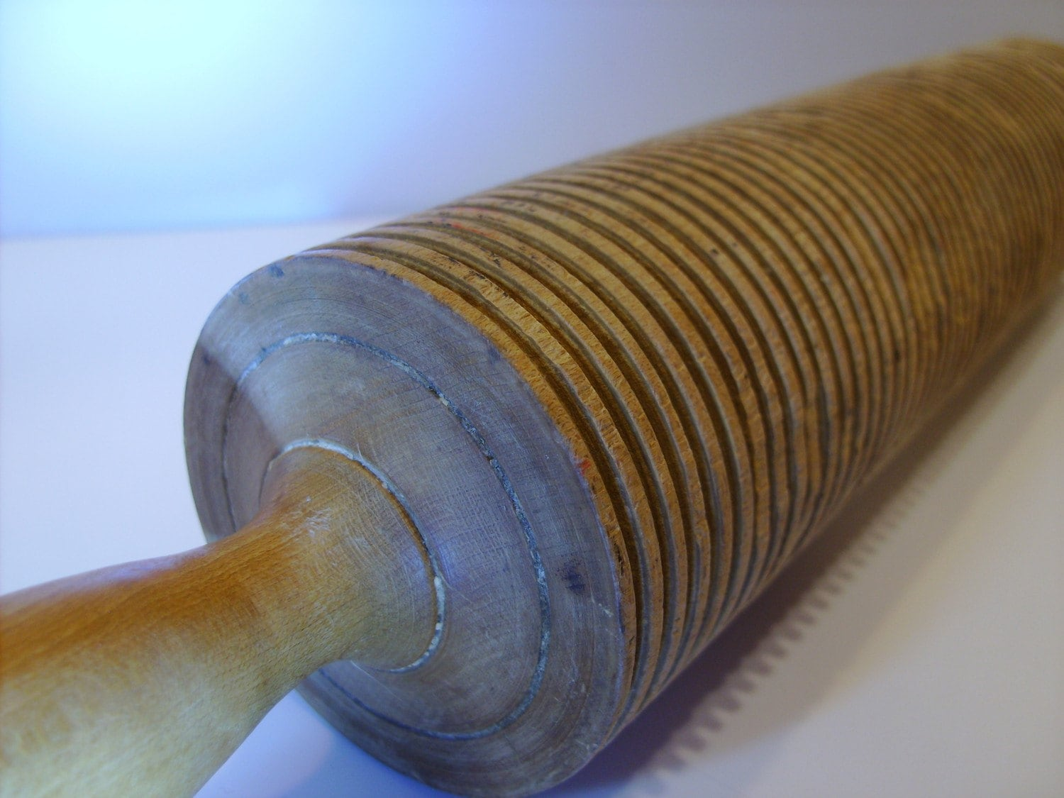 Antique Lefse Rolling Pin Grooved By Lookssewnice On Etsy